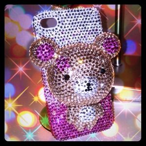 Accessories - Crystals Ted (Teddy Bear) Case for iPhone 4/4s