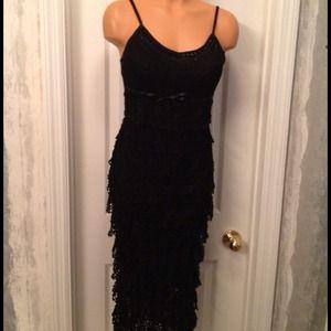 Black Crochet-knit Etoile Dress Wm Sz-Sm3,4
