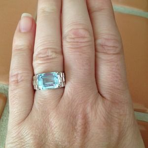 Jewelry - Blue Topaz Silver Ring