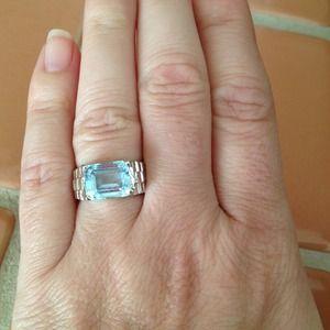 🔥FLASH SALE🔥Blue Topaz Silver Ring
