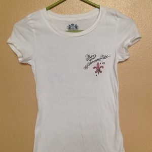 Juicy Couture Sparkly Graphic Tee Sz P