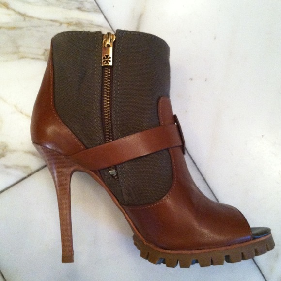 Tory Burch Boots - Open Toe Booties w/Lug Sole 2