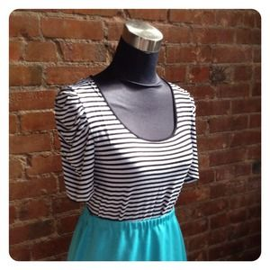 Tops - HALF OFF SALE | Striped Puff Sleeve T Shirt