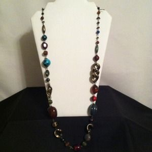 "Jewelry - 18"" Fall Colors Beads Necklace"