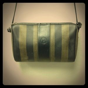 FENDI Handbags - Vintage Fendi stripe crossbody bag purse