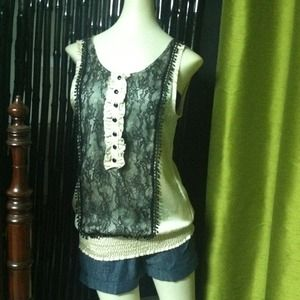 Tops - *SOLD* Lace Front Top