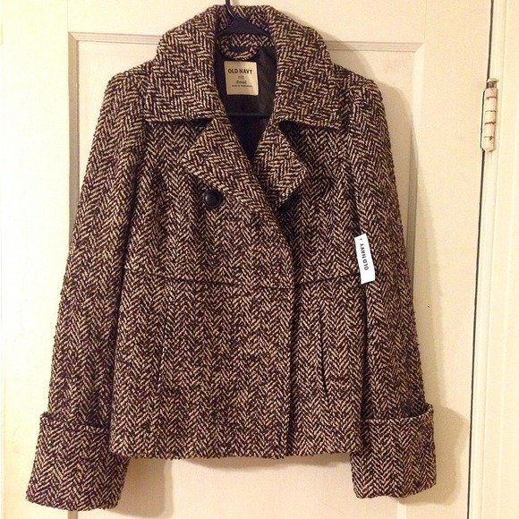 Old Navy Jackets & Blazers - NWT Old Navy Herringbone Peacoat