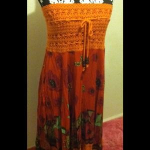 Dresses & Skirts - Orange multi-color dress/skirt
