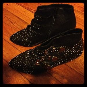 Reduced Jeffrey Campbell Starburst black booties.
