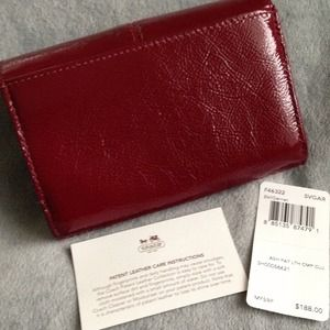 Coach Bags - Coach Ashley Patent Leather Wallet