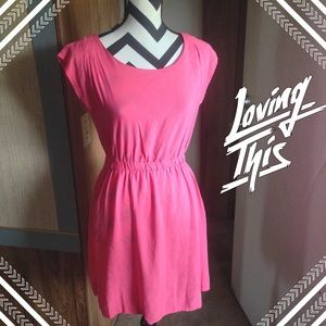 Coral (or pink) dress