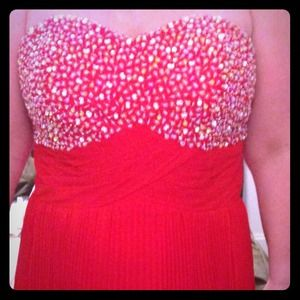 Dresses & Skirts - Custom Made Red Gown with hand beading