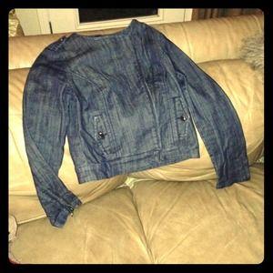 BUNDLED Denim motorcycle jacket for @janetbb