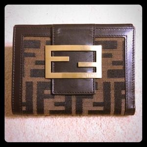 FENDI Clutches & Wallets - FENDI BROWN WALLET