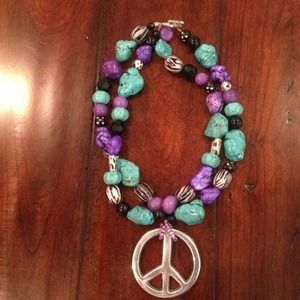 Jewelry - Handcrafted Peace sign necklace