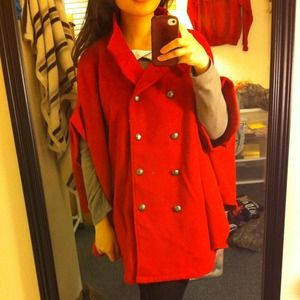 Jackets & Coats - Red cape jacket 3