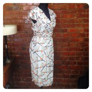 Erin Fetherston Bird Print Wrap Dress