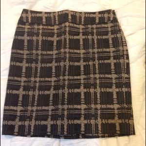 Ann Taylor plaid skirt