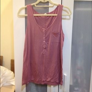 J. Crew Tops - Pink pocket tank