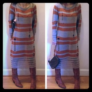 Dresses & Skirts - My favorite Sweater dress so Hip& chic from Paris