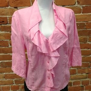 Tops - Jones New York linen top size M