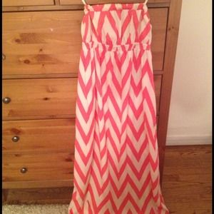 Dresses & Skirts - Pink and white striped maxi dress