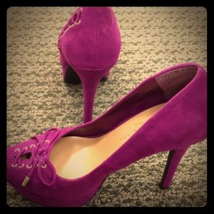 Jessica Simpson Shoes - Jessica Simpson Purple Suede Pumps