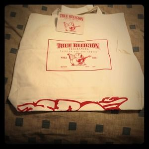 True Religion Accessories - True Religion large tote bag.