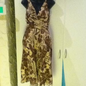 Dresses & Skirts - Tan with brown floral design