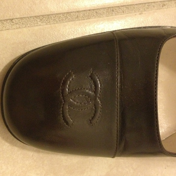 """CHANEL Shoes - Chanel dark brown 3"""" heels in good condition"""