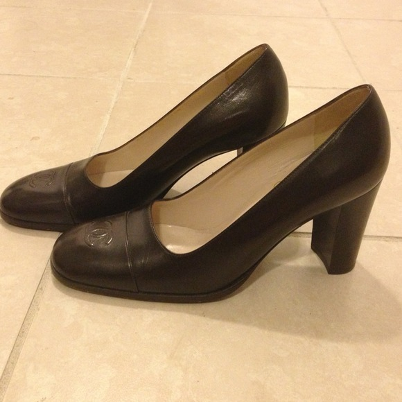 "CHANEL Shoes - Chanel dark brown 3"" heels in good condition"