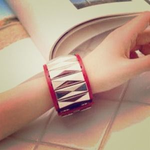 Jewelry - Red Leather Bracelet