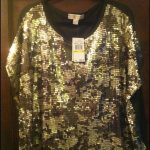 Michael Kors Tops - ⭕SOLD Michael Kors camo sequined top