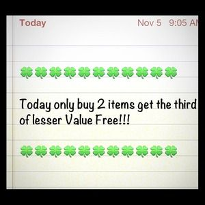 Other - Buy 2 get third free!! Add me and I will follow