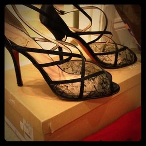 Christian Louboutin Shoes - Louboutin Vanitarita Crepe Satin Black