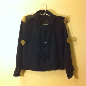Jackets & Blazers - 💋Navy cape jacket peacoat