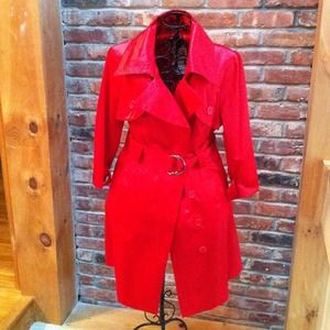 bebe Outerwear - bebe Red Coat