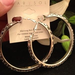 Beautiful hoop fashion earrings