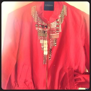 MAGASCHONI collection Jackets & Blazers - Magaschoni fuchsia embellished silk jacket sz4