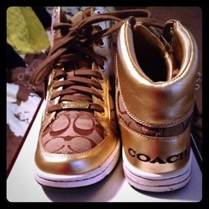 Coach Shoes - ✂Reduced!!✂Coach high tops! Priced to sell! Size 8