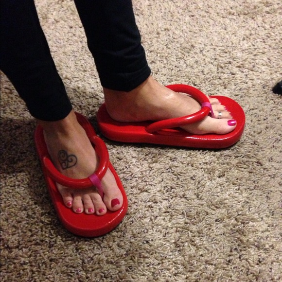 search for newest cute great look Floatie red flip flops