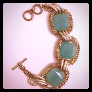 Blue/green & gold bracelet