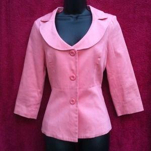 Jackets & Blazers - Baby Pink Crop blazer