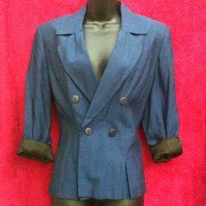 Jackets & Blazers - Vintage Blue Blazer