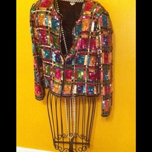 Jackets & Blazers - Vintage Sequin Jacket.