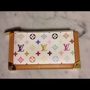 Louis Vuitton Clutches & Wallets - Louis Vuitton Multicolor Cles Keyring Coin Purse