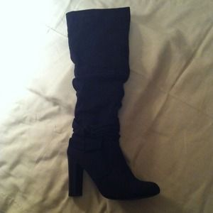 Shoes - BLACK SUEDE. NEVER WORN!!