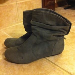 Grey Slouch Boots.