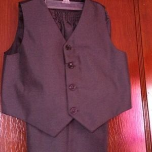 Jackets & Blazers - GREY AND BLACK BOYS VEST SUIT SIZE-5 BRAND NEW