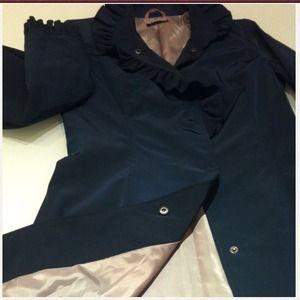 Sisley Jackets & Blazers - Sold ⛔ Sisley Ruffle Trench Coat NWOT